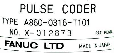 Fanuc A860-0316-T101 label image
