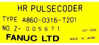 Fanuc A860-0316-T201 label image