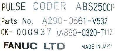 Fanuc A860-0320-T112 label image