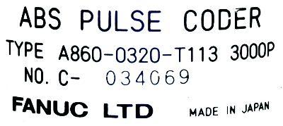 Fanuc A860-0320-T113 label image