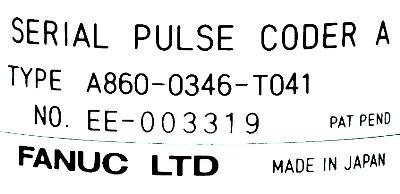 Fanuc A860-0346-T041 label image