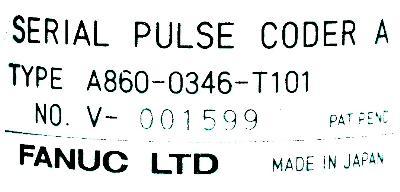 Fanuc A860-0346-T101 label image