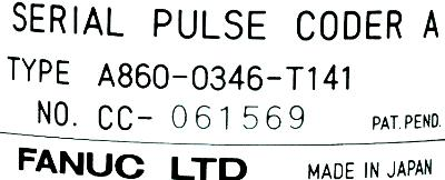 Fanuc A860-0346-T141 label image