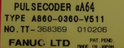 Fanuc A860-0360-V511 label image