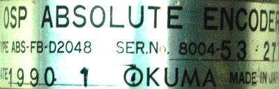 Okuma ABS-FB-D2048 label image