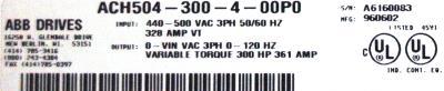 ABB ACH504-300-4-00P0 label image