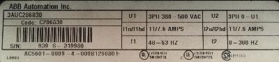ABB ACS601-0009-4-000B1200801 label image
