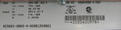 ABB ACS601-0060-4-000B1200801 label image