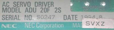 NEC ADU20F2S label image