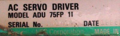 NEC ADU75FP1I label image