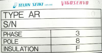 Teijin Seiki AR15B120-BAO Motors-AC Servo
