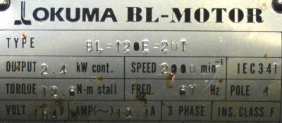 Okuma BL-120E-20T label image