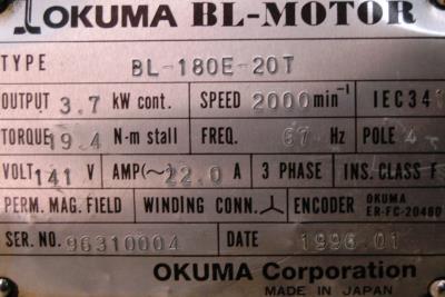 Okuma BL-180E-20T label image