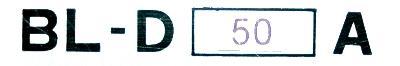 Okuma BL-D50A label image