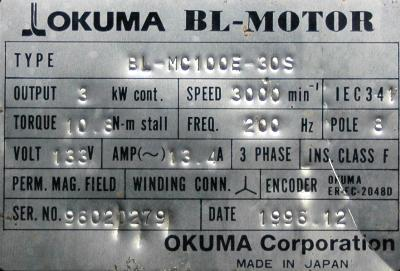 Okuma BL-MC100E-30S label image
