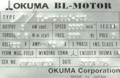 Okuma BL-MC100J-30S label image