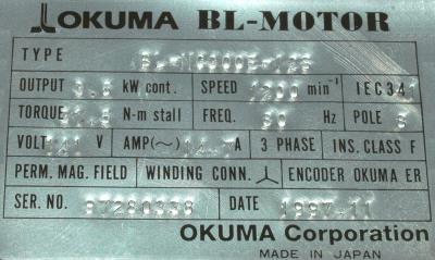 Okuma BL-MC300E-12S label image