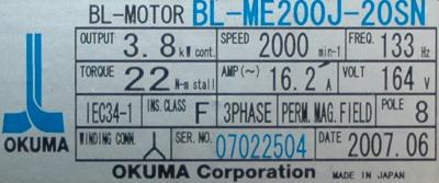 Okuma BL-ME200J-20SN label image