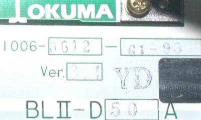 Okuma BLII-D50A label image