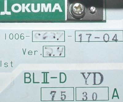 Okuma BLII-D75-30A label image