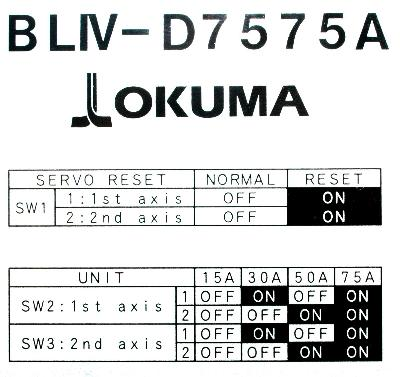 Okuma BLIV-D7575A label image