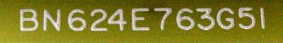 Mitsubishi BN624E763G51 label image