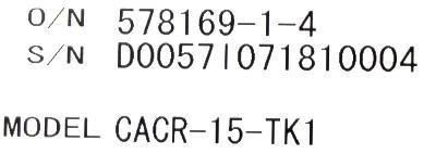 Yaskawa CACR-15-TK1 label image