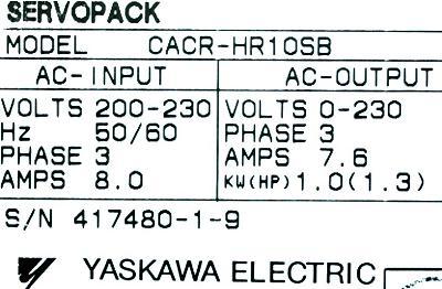Yaskawa CACR-HR10SB label image