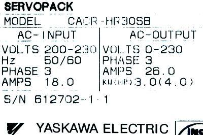 Yaskawa CACR-HR30SB label image