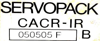Yaskawa CACR-IR050505FB label image