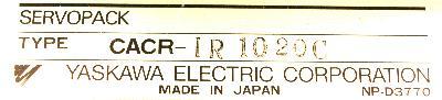 Yaskawa CACR-IR1020C label image