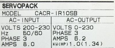 Yaskawa CACR-IR10SB label image