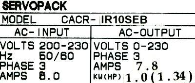 Yaskawa CACR-IR10SEB label image