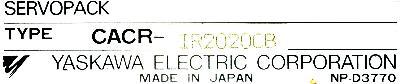 Yaskawa CACR-IR2020CB label image