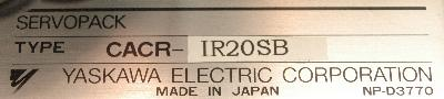 Yaskawa CACR-IR20SB label image