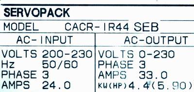 Yaskawa CACR-IR44SEB label image