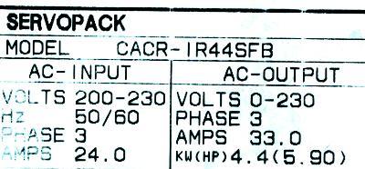 Yaskawa CACR-IR44SFB label image