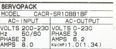Yaskawa CACR-SR10BB1BF label image