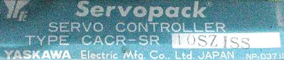 Yaskawa CACR-SR10SZ1SS label image