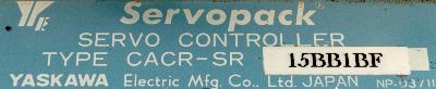 Yaskawa CACR-SR15BB1BF label image