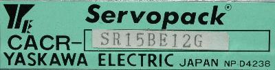 Yaskawa CACR-SR15BE12G label image