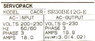 Yaskawa CACR-SR30BE12G-E label image