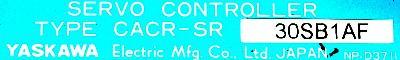 Yaskawa CACR-SR30SB1AF label image
