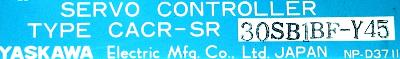Yaskawa CACR-SR30SB1BF-Y45 label image