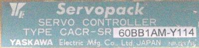 Yaskawa CACR-SR60BB1AM-Y114 label image
