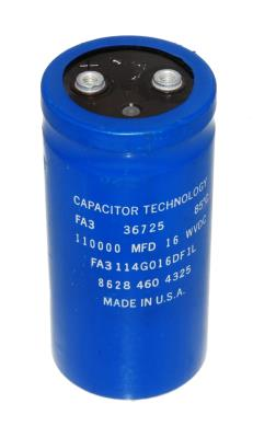 Capacitor Technology CAP-16V-110000UF-109-52-22 front image