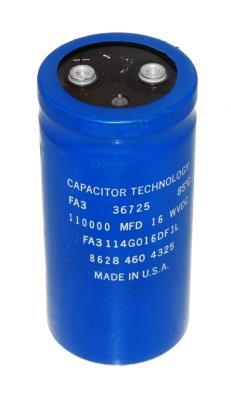 New Refurbished Exchange Repair  Capacitor Technology Capacitors CAP-16V-110000UF-109-52-22 Precision Zone
