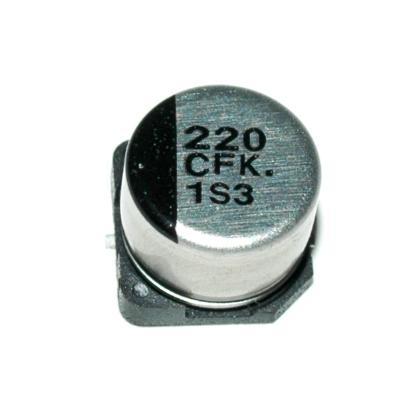 Matsushita CAP-16V-220UF-7.7-6.3-SMD front image