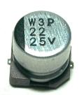 Panasonic CAP-25V-22UF-SMD front image