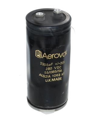 Aerovox CAP-280V-2300UF-132-51-23 front image